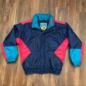 Vintage Multi-Colored Puffer Ski Jacket